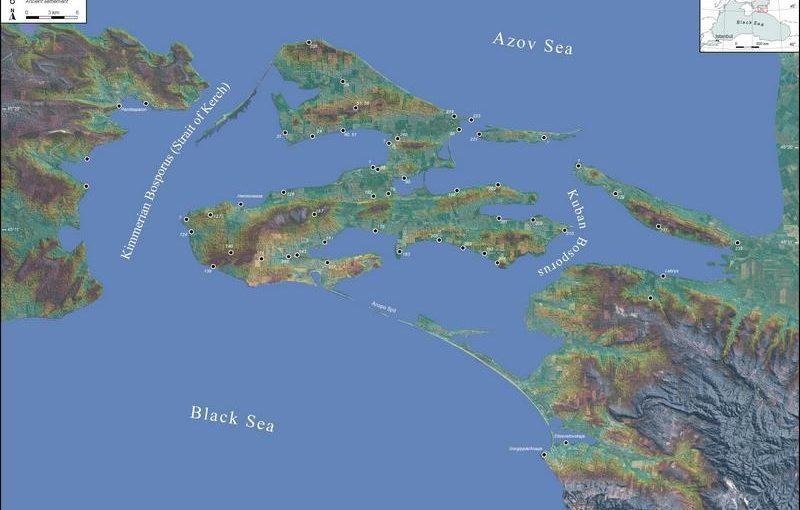 Исчезнувший морской пролив у Таманского полуострова