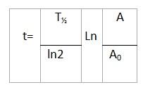 А и А0 – соответственно, активность 14С в образце на момент датирования и начальная активность в момент времени t0=0. Т1/2 – период полураспада.